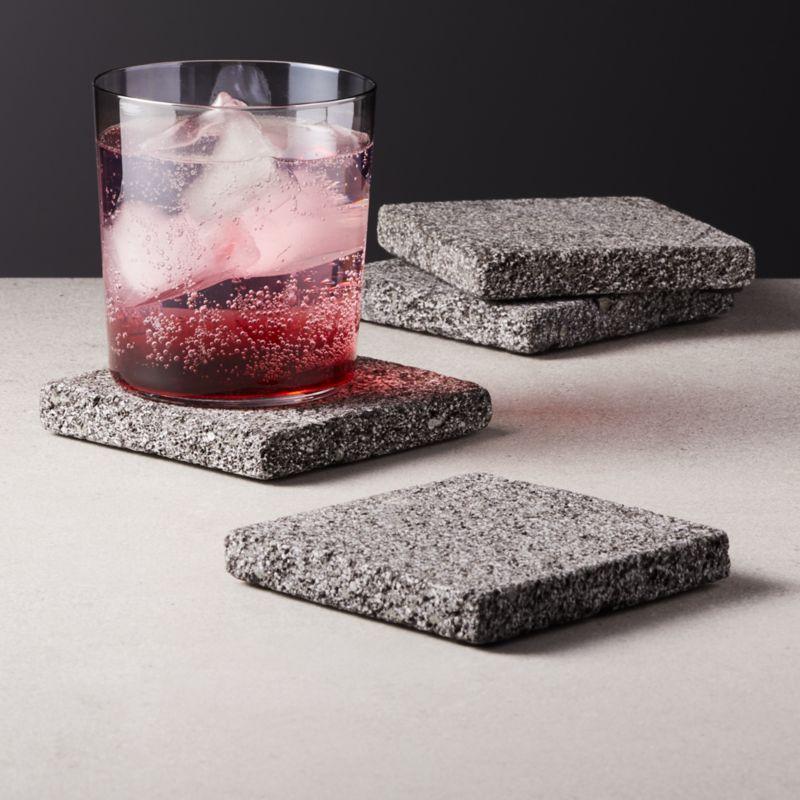 Loa Lava Stone Coasters Set of 4