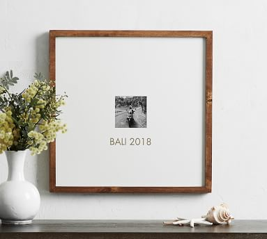 Wood Gallery Single Opening Oversized Mat Frame, 8x10 (25x25 without mat) - Natural