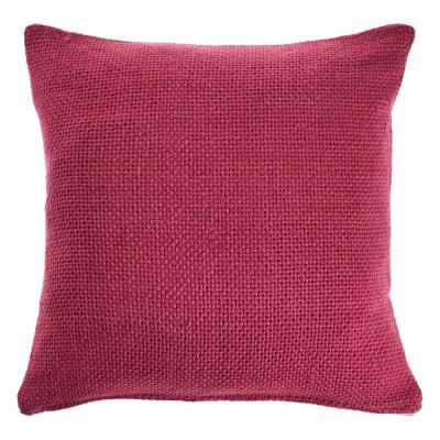 LR Home Crone Berry Pink Solid Cozy Poly-fill 18 in. x 18 in. Throw Pillow