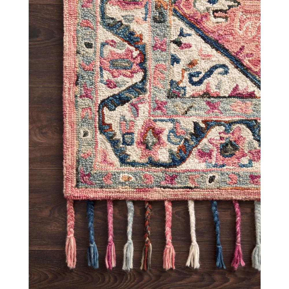 """Arielle Global Bazaar Pink Wool Floral Patterned Rug - 5' x 7'6"""""""
