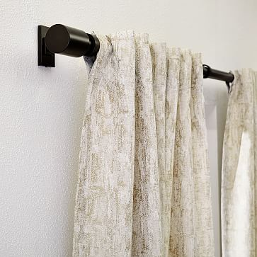 "Woodland Shine Jacquard Curtain, Brick Dust, 48""x108"""