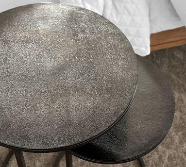 Duke Metal Nesting Nightstand, Bronze