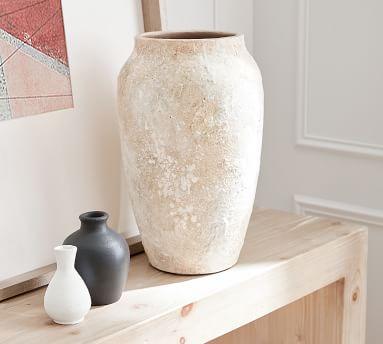Urbana Ceramic Bud Vase, Black - Small Vase