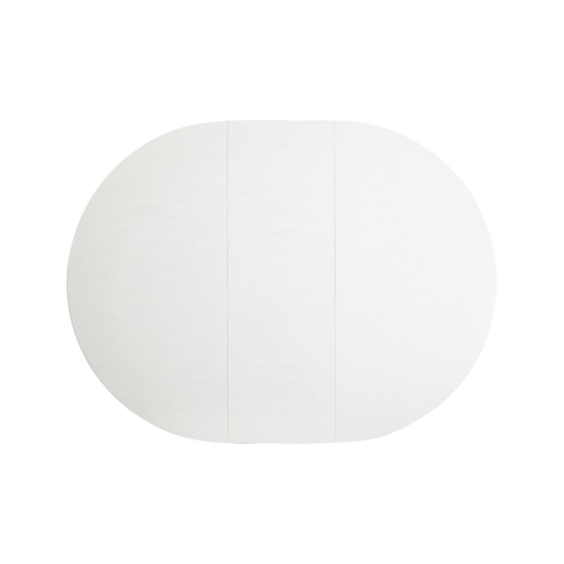 """Aniston White 45""""-60"""" Round Extension Dining Table Restock in late october 2021."""