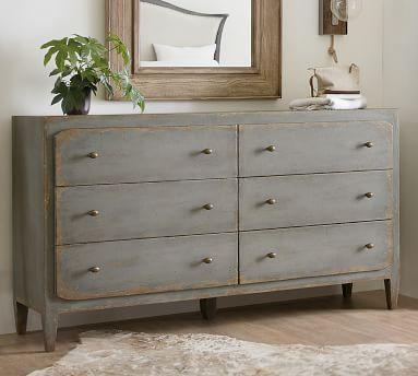 Blatchford 6-Drawer Extra Wide Dresser, Gray