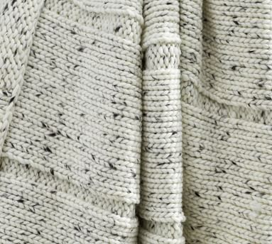 """Donegal Fringe Throw, 50 x 60"""", Ivory"""