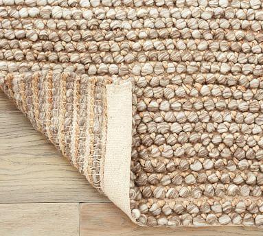 Zane Eco-Friendly Handwoven Textured Rug, 8 x 10', Oatmeal