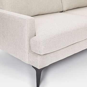 Andes Grand Sofa, Chenille Tweed, Silver Gray, Dark Pewter