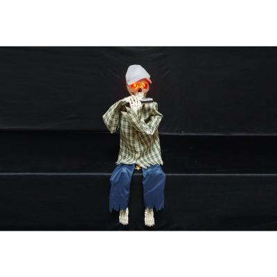 Home Accents Holiday 3 ft. Animated LED Harmonica Playing Skeleton