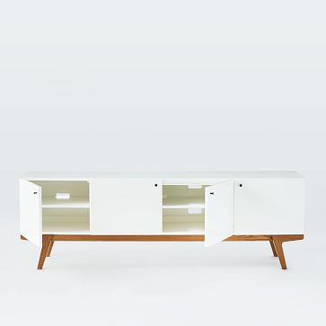 Modern Wall Cabinet Bookcase:, Pecan/White