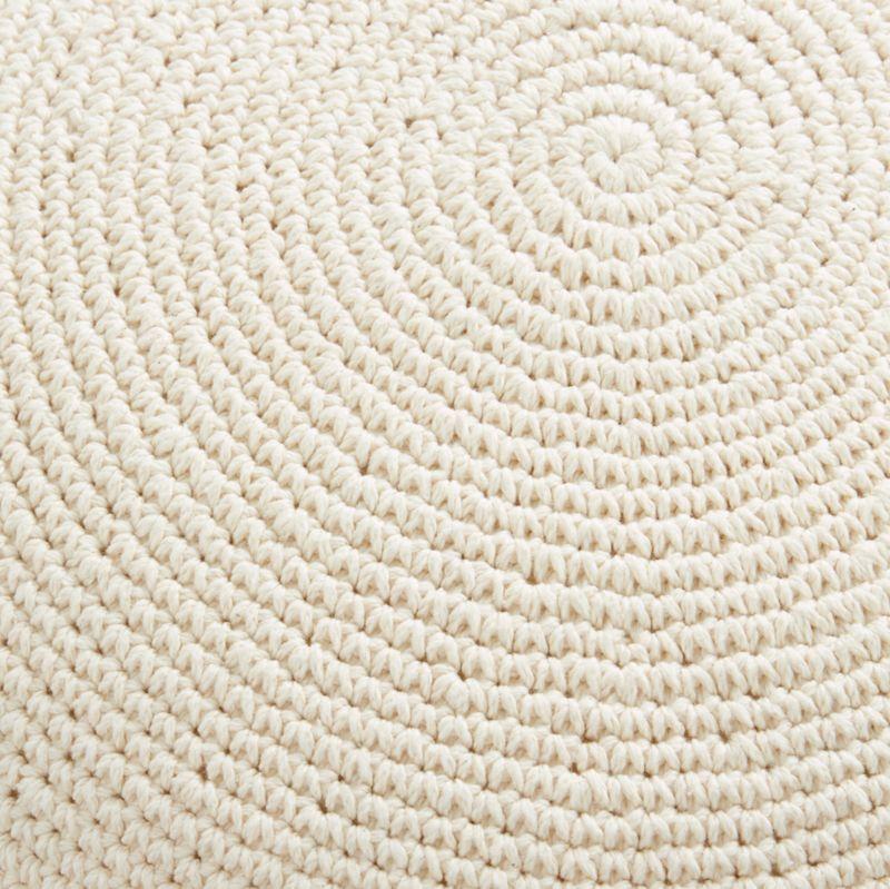 """Pico 18"""" White Round Pom Pom Pillow"""