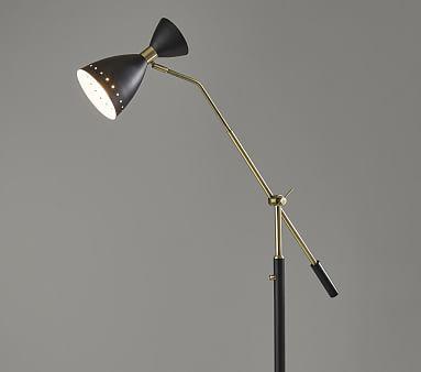 Elias Adjustable Floor Lamp, Black