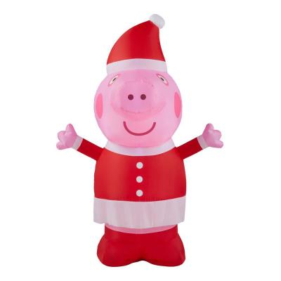 Peppa Pig 3.5 ft. Inflatable in Santa Outfit