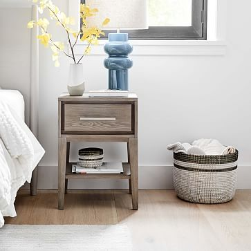 Colorblock Basket Planters, Floor, White & Black, Woven, Large