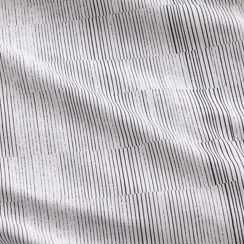 Karson Organic Cotton Sateen Stripe Full/Queen Duvet Cover