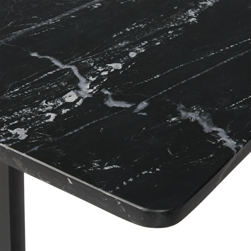 Oxford Black Marble Side Table