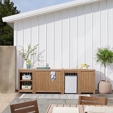 Portside Kitchen Two Door Cabinet, Driftwood