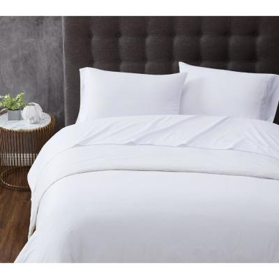 TRULY CALM Antimicrobial 3-Piece White Microfiber Twin Sheet Set