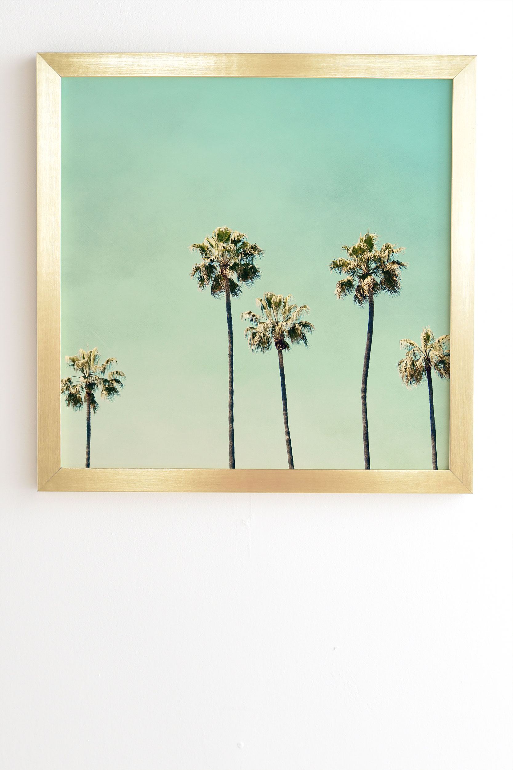 """Palm Tree Ombre by Bree Madden - Framed Wall Art Basic Gold 8"""" x 9.5"""""""