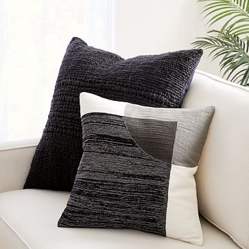 """Cozy Weave Pillow Cover, 24""""x24"""", Stone White"""