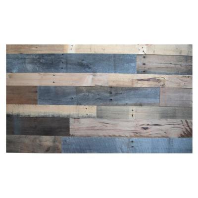 BARNLINE 1/2 in. x 32 in. Multi-Width Multi-Color Kiln Dried Antique 100% Reclaimed Wood Kit Planks(10 sq. ft.)