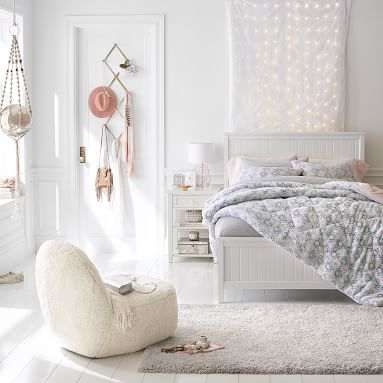 "Light Up Window Sheer Curtain, 84"", White"