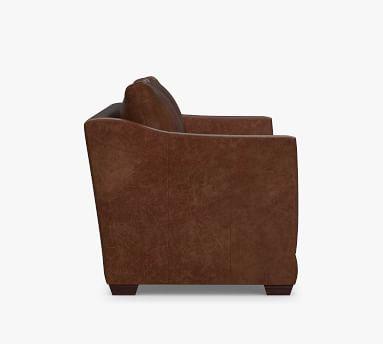 "Celeste Leather Loveseat 66"", Polyester Wrapped Cushions, Vegan Java"
