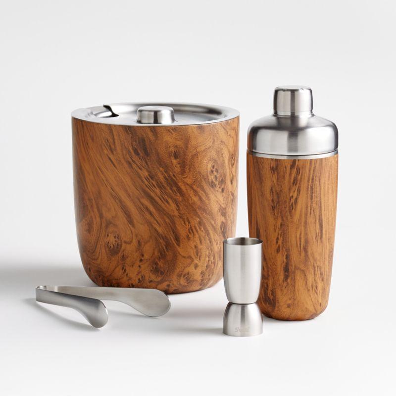 S'well Teakwood Cocktail Shaker Set