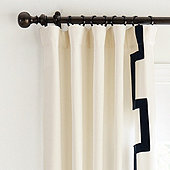 "Set of 2 Fret Trim Drapery Panels  Natural 84"" - Ballard Designs"