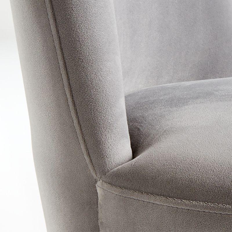 Ofelia Slate Grey Velvet Swivel Dining Chair