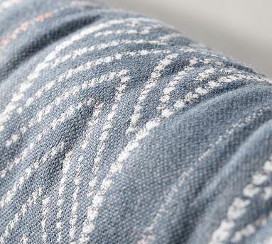 "Sunbrella(R) Quentin Woven Stripe Indoor/Outdoor Pillow, 11"" x 32"", Blue Multi"