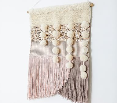 west elm x pbk Blush Woven Wall Tapestry