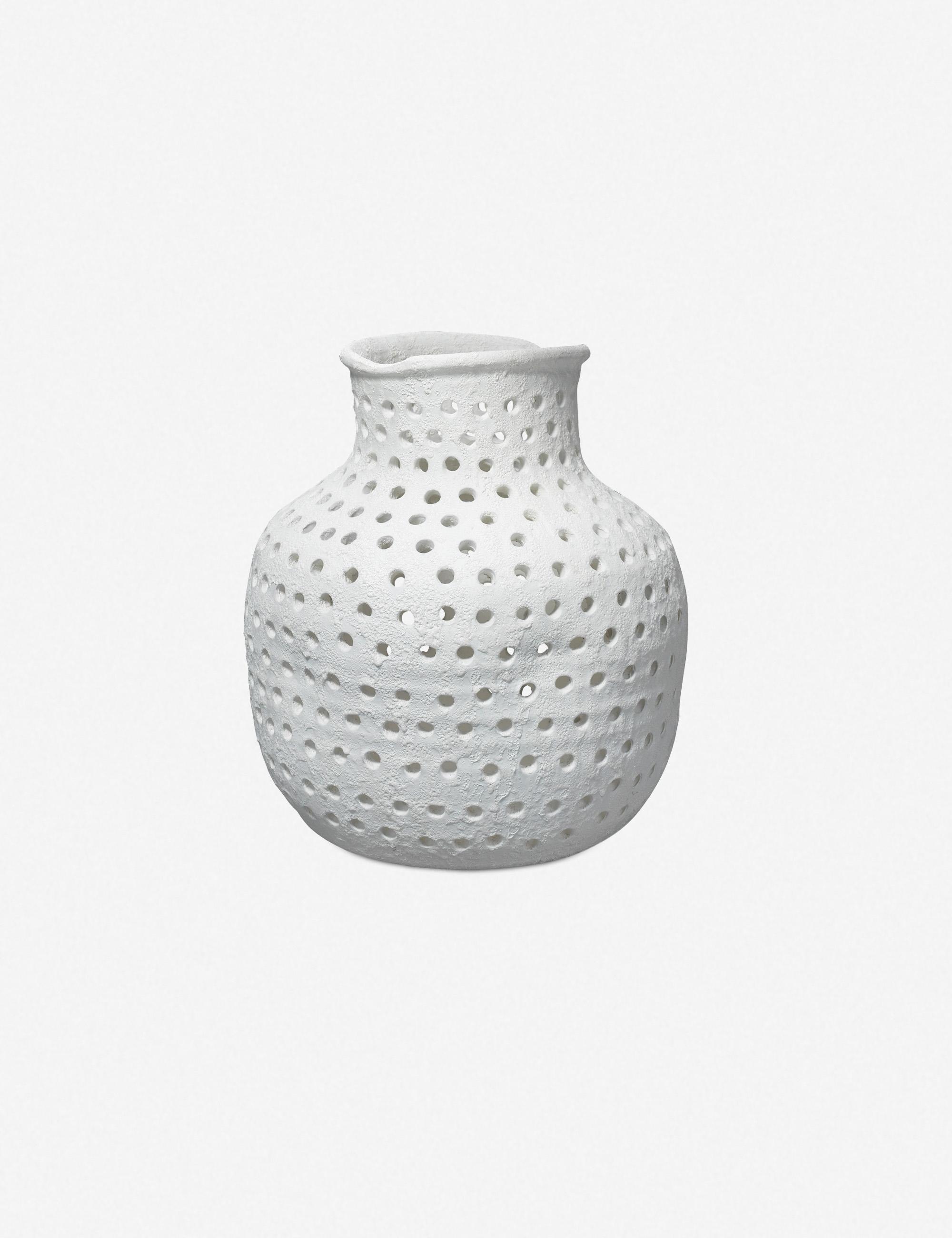 Dira Small Vase, White