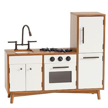 Mid-Century, Play Kitchen, Acorn + White