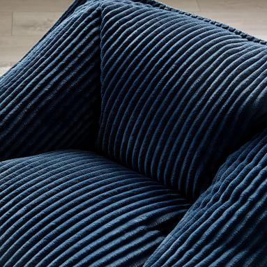 Chamois Modern Lounger, Midnight Blue