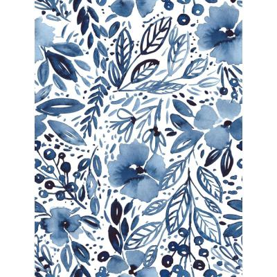 RoomMates 28.29 sq.ft. Clara Jean April Showers Peel and Stick Wallpaper, blue/ white