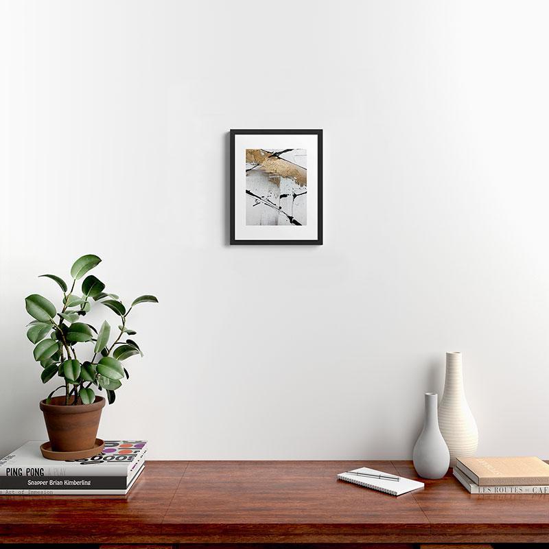 """Still by Alyssa Hamilton Art, Modern Framed Art Print, Black, 14"""" x 11"""""""