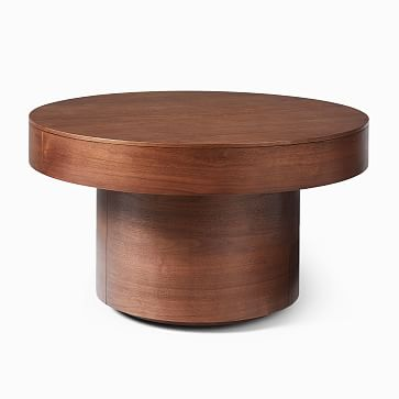 Round Pedestal Coffee Table, Winterwood