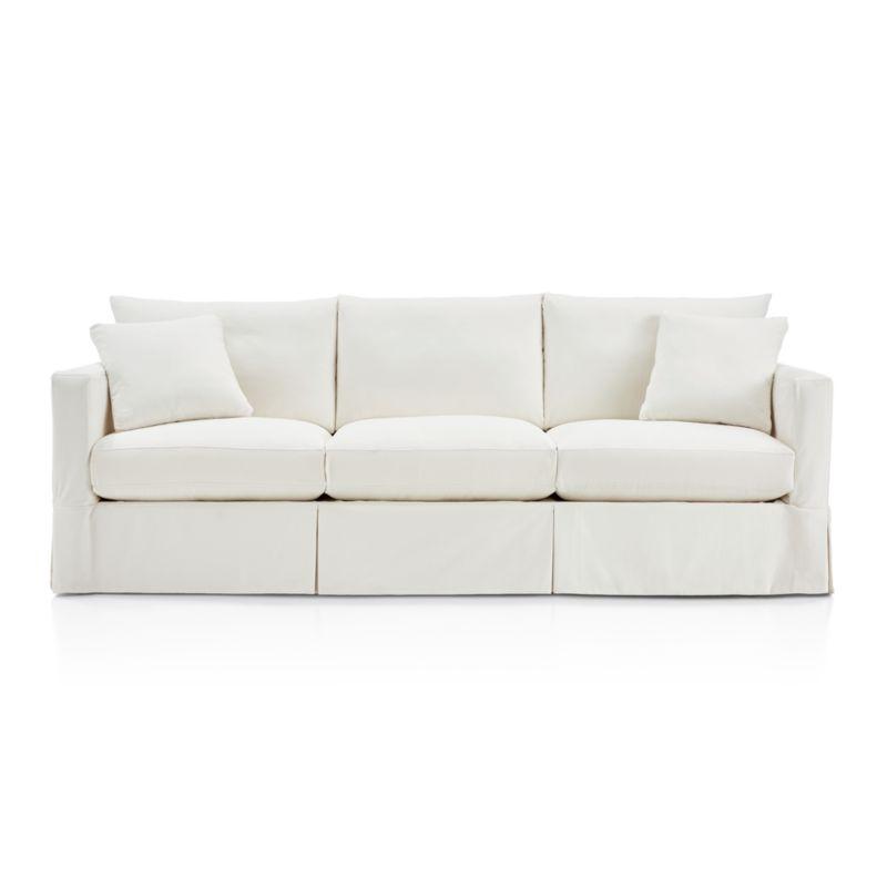"""Willow 103"""" Grande Modern Slipcovered Sofa - Monet Champagne"""