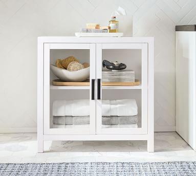 Austen Bath Cabinet Floor Storage, White