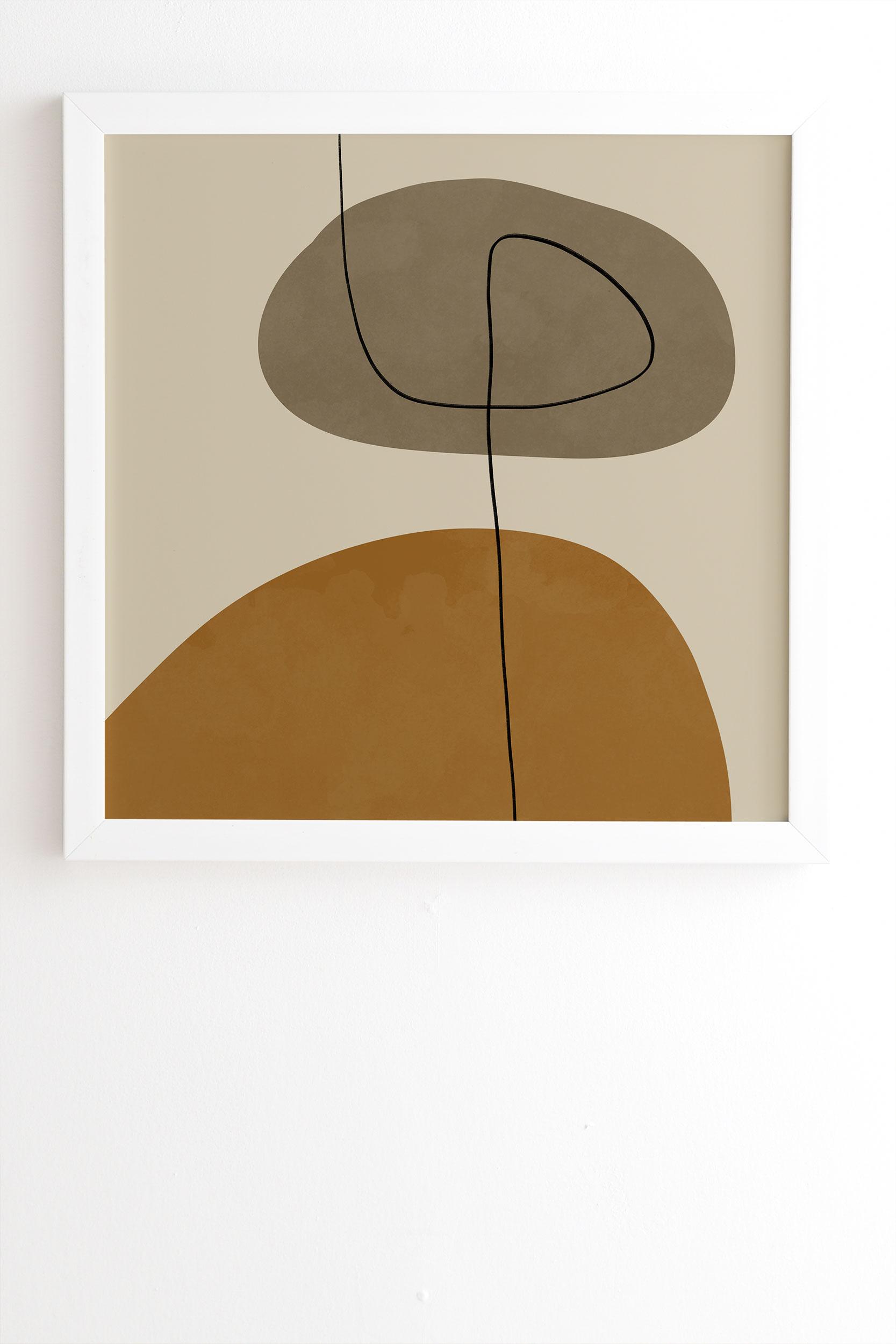 "Organic Abstract Shapesii by Alisa Galitsyna - Framed Wall Art Basic White 30"" x 30"""