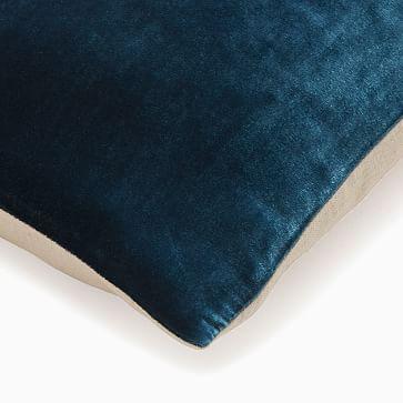 """Lush Velvet Pillow Cover, 12""""x46"""", Regal Blue"""