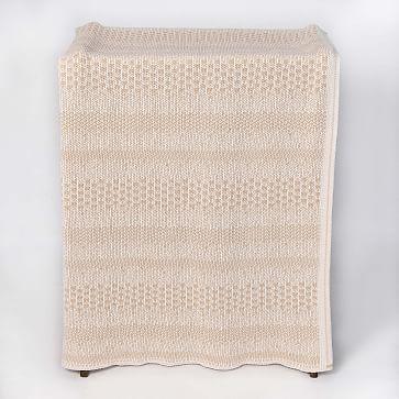 Pixels Throw Blanket Cotton Natural/Tan 60X50
