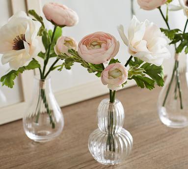 Monique Lhuillier Faux Anemone & Ranunculus Stems, Blush