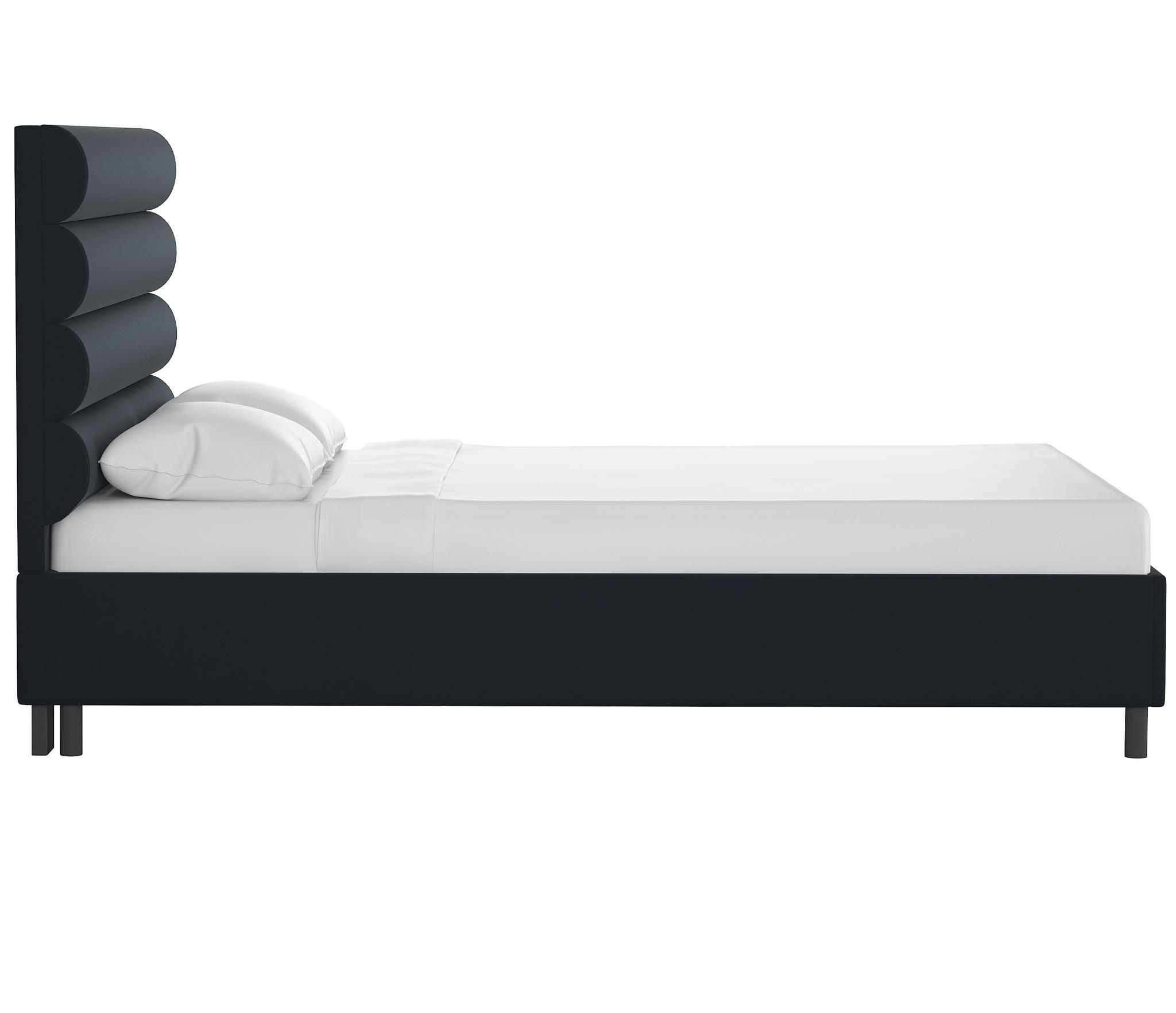 Bailee Channel Platform Bed, Navy King