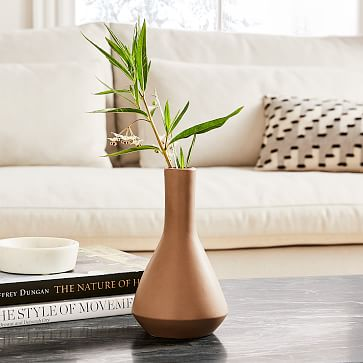 Crackle Glaze Vase, Gray, Tall Totem