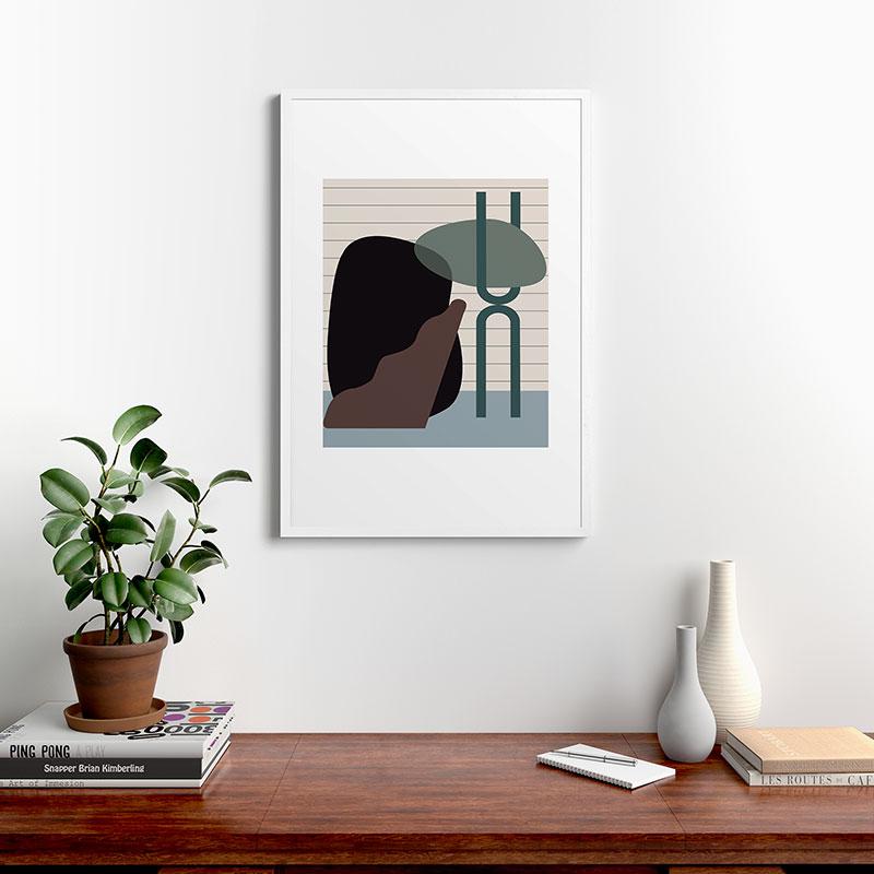"Shape Study 26 by mpgmb - Modern Framed Art Print White 24"" x 36"""