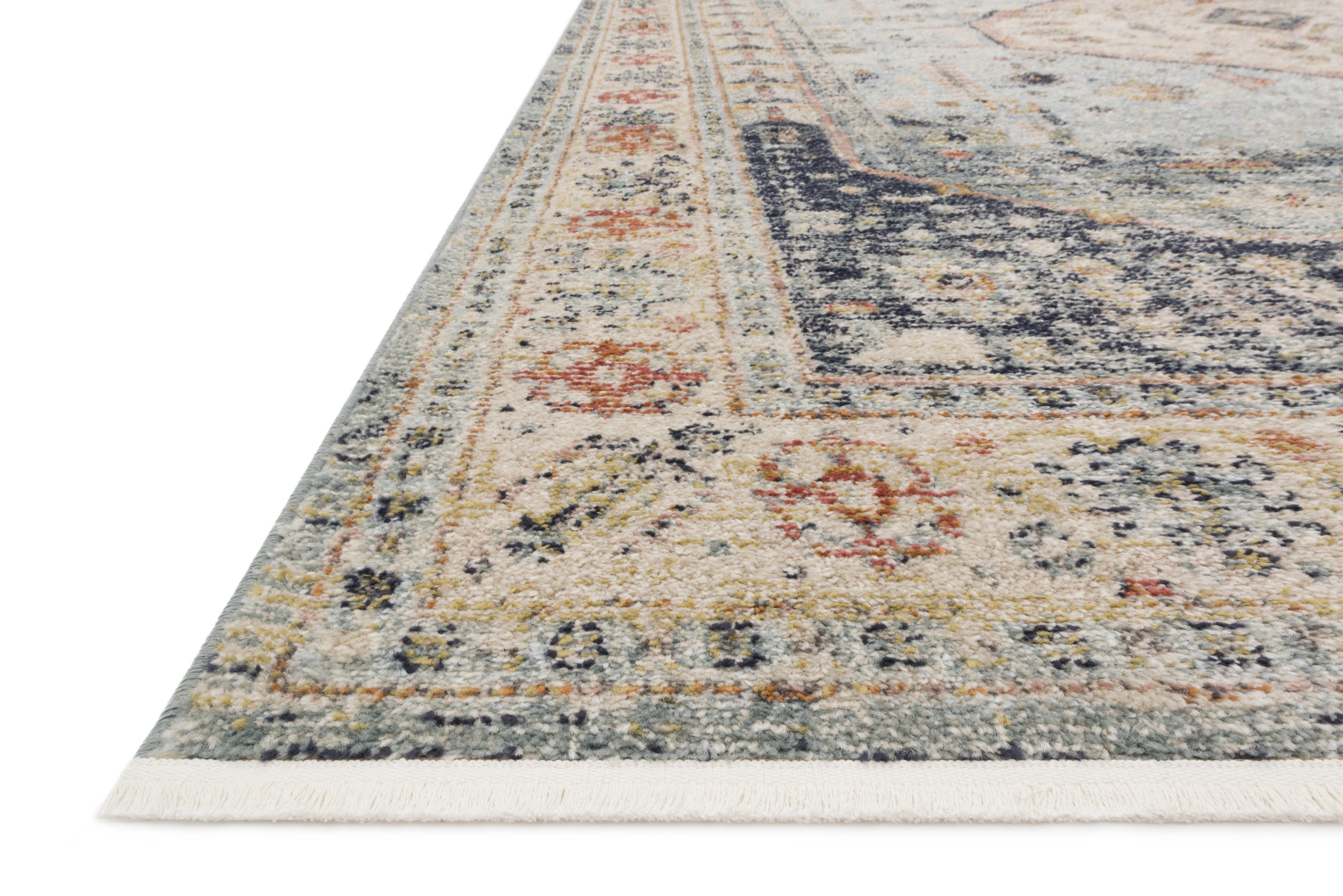 """Magnolia Home by Joanna Gaines GRAHAM GRA-03 BLUE / ANT. IVORY 5'-5"""" x 7'-6"""""""