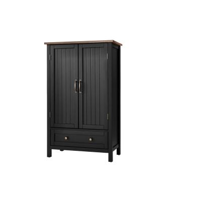 StyleWell Bainport Black with Haze Top Wood Kitchen Pantry with Haze Top (28 in. W x 45 in. H), Black/Haze