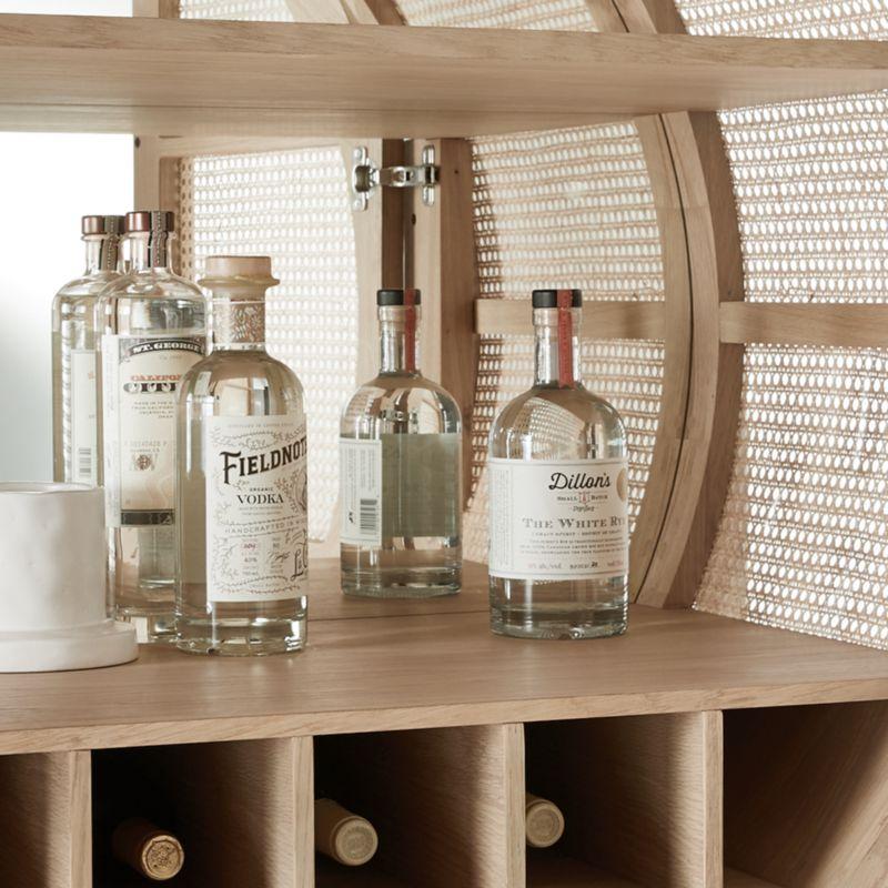 West Natural Cane Bar Cabinet